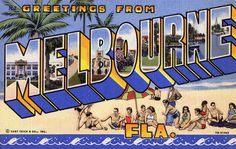 Greetings from Melbourne, Florida - Large Letter Postcard by Shook Photos, via Flickr