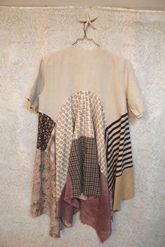 Boho Shabby Chic Shirt, Romantic Mori Girl Style, Lagenlook