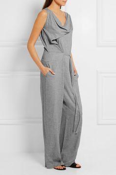 Vivienne Westwood Anglomania | Twisted draped crepe jumpsuit | NET-A-PORTER.COM