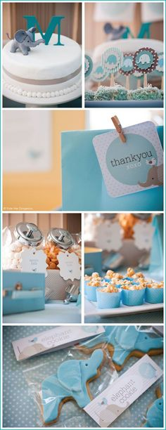 Baby Shower Ides For Boys Elephant Theme Birthday Parties 16 Ideas Idee Baby Shower, Bebe Shower, Fiesta Baby Shower, Baby Shower Parties, Baby Shower Themes, Baby Boy Shower, Baby Shower Gifts, Shower Ideas, Baby Party