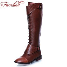 67.18$  Watch now - http://ali0rb.worldwells.pw/go.php?t=32628121256 - Comfortable winter women knee high boots 2016 brand round toe zip fashion thick heel casual shoes black ladies boots plus size