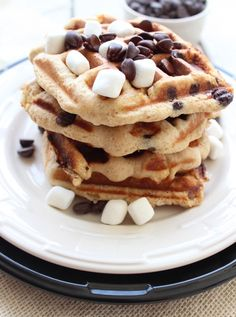 #GlutenFree S'Mores Waffles