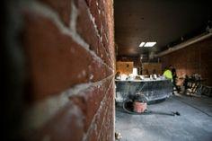 Close Up of the #brick wall and the #bar at Morgans On Main #morgansonmainbar #visitwoodland #visityolo