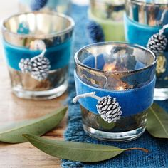 Winter-Theme Votive Candles
