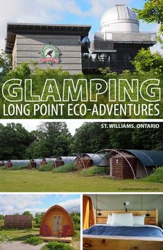 Glamping it UP at Long Point Eco-Adventures Ontario. A glamourous camping experience in Ontario's SouthWest Canada by Calculated Traveller #Ontario #Canada #glamping Rv Travel, Family Travel, Adventure Travel, Travel Tips, Group Travel, Travel Style, Travel Destinations, Ontario Travel, Ontario Camping