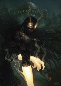 Dark, Fantasy, and Surreal Artwork from Deviant Artists Creature Concept Art, Creature Design, Arte Horror, Horror Art, Dark Fantasy Art, Dark Art, Fantasy Creatures, Mythical Creatures, Demon Art