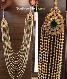 Multistring Pearls Mala with Polki Side Pendants photo Beaded Jewelry, Beaded Necklace, Silver Jewelry, Silver Bracelets, Silver Rings, Gold Necklaces, Women's Jewelry, Cuff Bracelets, Bangles