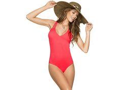 Jednodílné plavky PHAX Sunshine Fiesta korálově červené. Korálově červené jednodílné plavky od značky PHAX z kolekce Sunshine Fiesta.