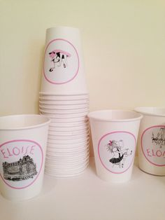 Eloise at the Plaza Paper Cups Set of 24 by lolapaperdoll on Etsy, $20.00