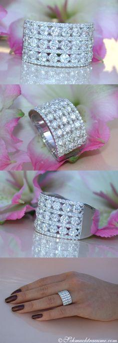 High-end Diamond Band | 2.62 ct. G VS | Whitegold 18k - schmucktraeume.com Like: https://www.facebook.com/Noble-Juwelen-150871984924926/