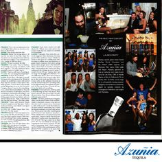 Azunia Tequila New Bottle Launch Party Featured in Playboy Magazine - April Issue