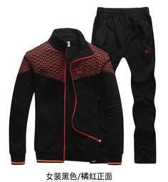 2013 autumn winter men & women's brand tracksuit sports leisure wear, couple long sport tops + pants suits plus size maxi 4XL-in Hoodies & S...