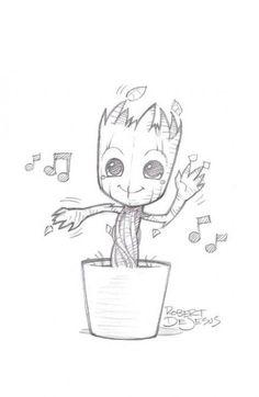 drawings groot drawing easy disney characters character thewhitestyle jamiedrawingmagazine ru cartoon sketches casual