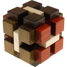 Konstrukt is a 15 piece burr cube designed by Yavuz Demirhan.