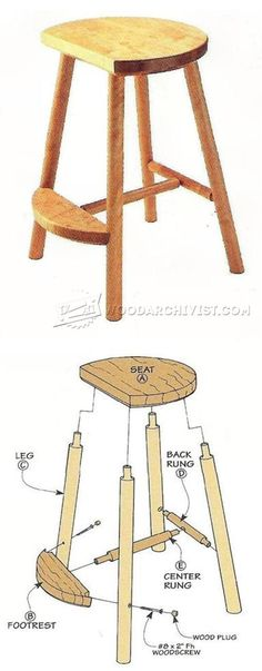 Shop Stool Plans - Workshop Solutions Plans, Tips and Tricks | WoodArchivist.com