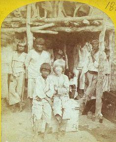 Albino Boy with Zuni Indians by Timothy H. OSullivan