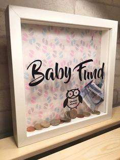 baby fund money box / saving baby fund / new baby gift / saving money box frame by Kayleighskeepsake on Etsy