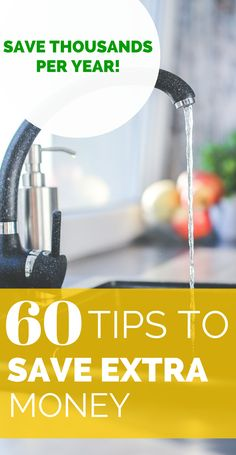 We've all wasted money at some point in our lives. I know for a fact that I could definitely do a better job at saving more money on energy and food. Here's a list of 60+ money saving tips you could start using today! www.howtoliveintheus.com #savemoney #moneysavingtips