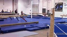 This well-armed gymnast:   11 GIFs Of People Going Harder Than You. *Cough cough* aldric *cough cough*
