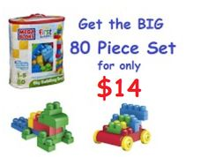 South Suburban Savings: Amazon: Get the 80 Piece Set of Mega Bloks Big Building Bag for only $14.59!