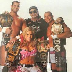{Hart Dynasty} Tyson Kidd, Natalya, & David Hart Smith with Bret Hart Wrestling Posters, Watch Wrestling, Wrestling Wwe, Female Wrestlers, Wwe Wrestlers, David Hart Smith, Tyson Kidd, Wrestling Superstars, Wwe World