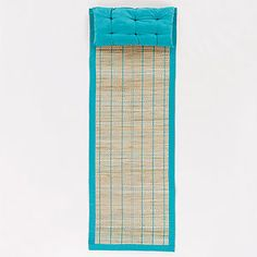 This is what I need when I go to the beach!    Pagoda Blue Fiber Beach Mat with Pillow | World Market