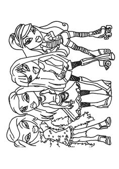 bratz and boots coloring pages - photo#46