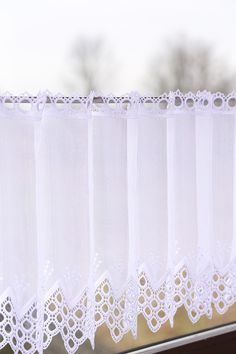 Cute Curtains, Valance Curtains, Kitchen Curtains, Kitchen Interior, Sewing Crafts, Curtain Ideas, Geo, Decoration, Home Decor