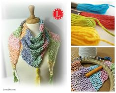 Loom KNit Triangle Shawl