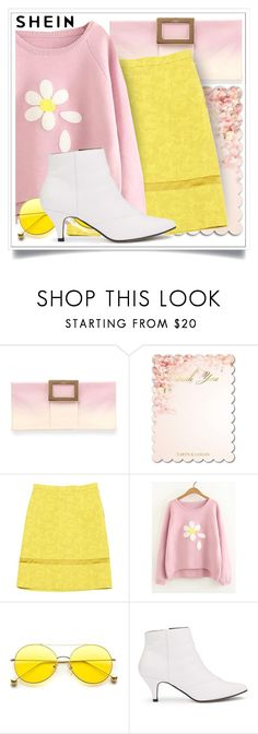 """Shein"" by ewa-naukowicz-wojcik ❤ liked on Polyvore featuring Roger Vivier, Louis Vuitton and Miss Selfridge"