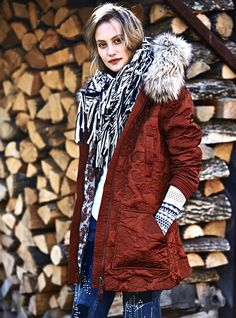 NEW Free People Shiny Copper Rust Faux Fur Hooded Quilted Belted Coat Parka M  #FreePeople #quiltedshinyparka