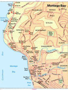 Map of Montego Bay Attractions