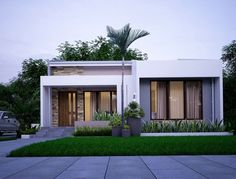 Haus nice 15 Simple Minimalist House Design Trends 2019 How to build a water pond ! Build Dream Home, Build Your House, Modern Minimalist House, Small Modern Home, Modern Small House Design, Simple House Design, Modern Bungalow House Design, Minimalist Design, Modern Exterior