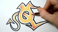 How to draw graffiti letter O