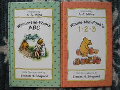 Classic Winnie the Pooh Lot 2 Hardcover Books ABC 123 Alphabet Numbers VGUC