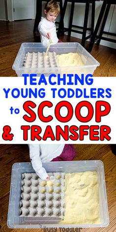 Make a Cornmeal Scooping Station #toddler #toddleractivity #easytoddleractivity #indooractivity #toddleractivities #preschoolactivities #homepreschoolactivity #playactivity #preschoolathome