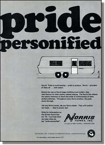1970 Norris Camping Travel Trailer Pride Personified Print Ad | eBay