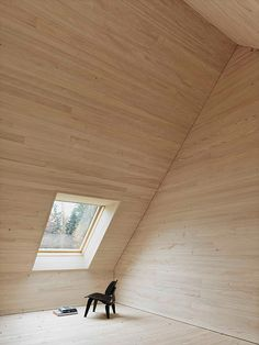 Haus am Moor. Minimalist., Bernardo Bader Architects, Wooden Interior, Natural materials, Minimalist Interior