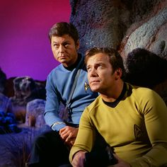 McCoy and Kirk looking contemplative (Star Trek)