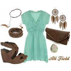 Love the chocolate brown with the mint....I am in love with this:)