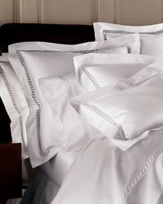 Sleeping beauty...Sferra 1020 thread-count Egyptian cotton bedding...Neiman Marcus