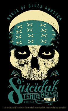 Suicidal Tendencies Suicidal Tendencies ☮ Heavy metal rock music concert psychedelic poster ☮