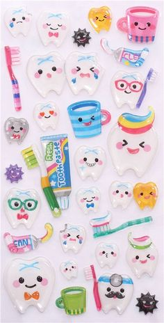 hard tooth dental care 3D stickers by Mind Wave from Japan 2