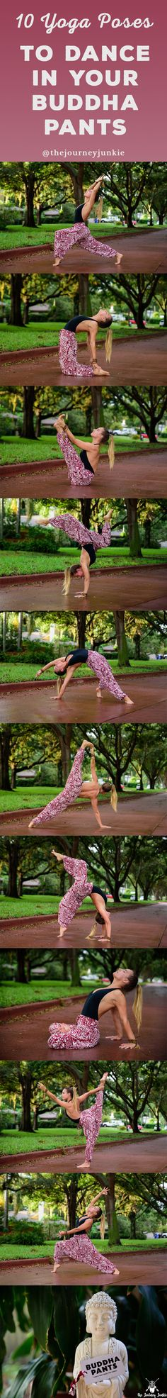 Get inspired to move your body with these 10 shapes + these badass, beautiful pants from Buddha Pants! Plus, there's a coupon waiting for you on the other side yogis!