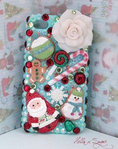 Icy Holiday  Decoden Iphone 4/4S Case  READYtoSHIP by HELLOxSUGAR, $40.00 #decoden
