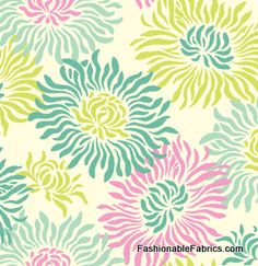 Fabric... Freshcut Graphic Mums Turquoise by Heather Bailey