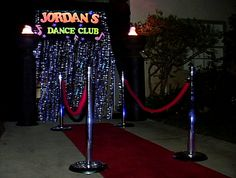 Night Club Theme Decoration | You may book one or more services. Ask about our package deals.