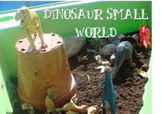 The Sunday Showcase - Sensory Play - Here Come the Girls Dinosaur Small World, Dinosaur Play, Small World Play, Sensory Bins, Sensory Play, Child Love, Crafts For Kids, Activities, Dinosaurs