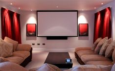 There are many mistakes that folks make along the way related to home cinemas. Home Cinema Room, At Home Movie Theater, Home Theater Rooms, Home Theater Design, Home Theater Seating, Ticket Cinema, Home And Deco, Cool Rooms, House Rooms