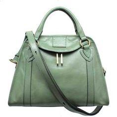 Marc Jacobs C3PE021 Sage (Green) Leather Handbag | Shirise.com